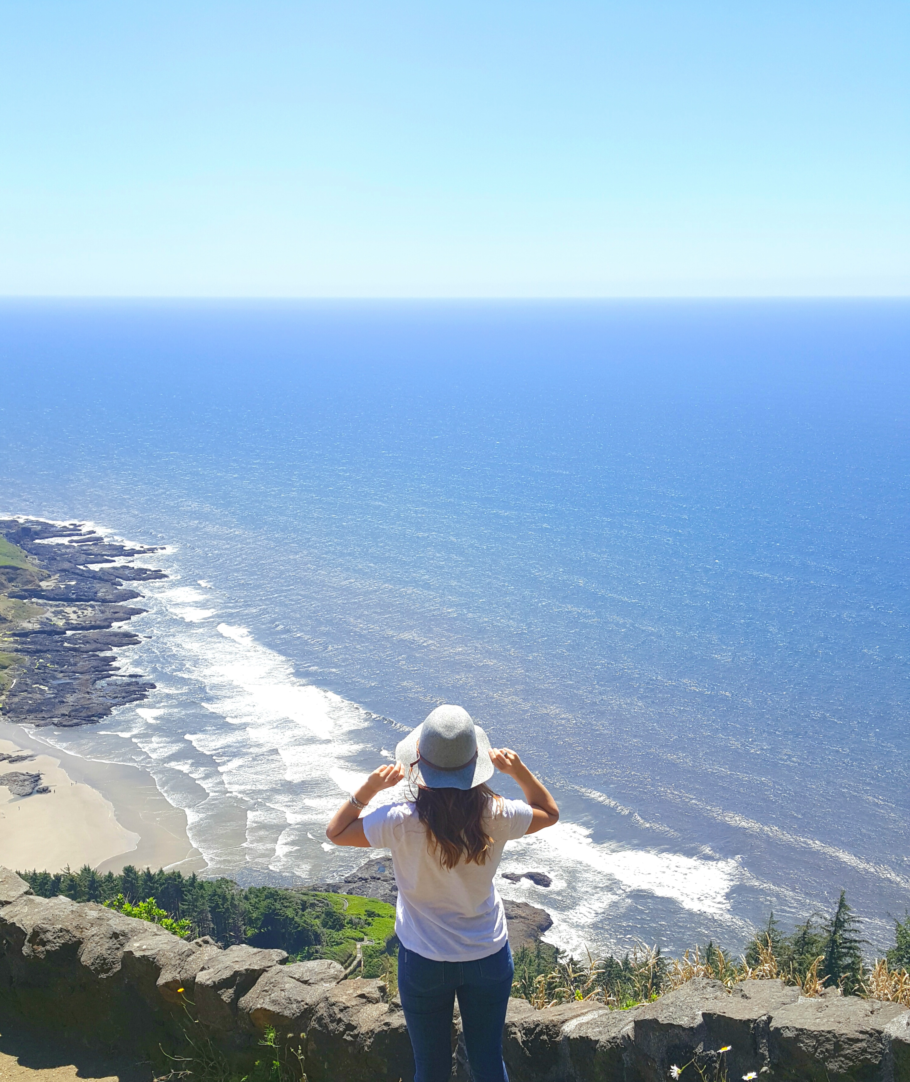 Oklahoma girl on Oregon Coast Cape Perpetua